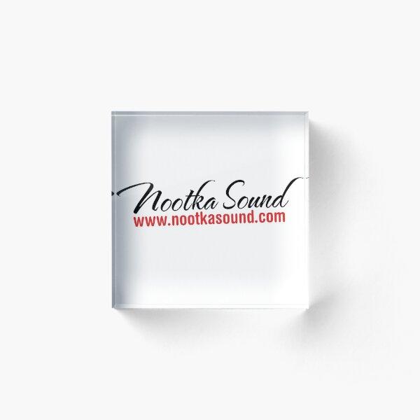 NootkaSound.com Logo - Nootka Sound, BC Acrylic Block