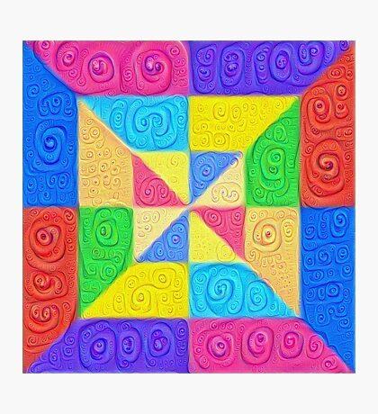 DeepDream Color Squares Visual Areas 5x5K v1448115896 Photographic Print