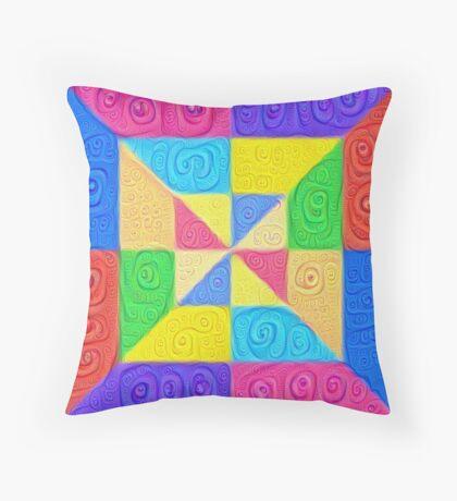 DeepDream Color Squares Visual Areas 5x5K v1448115896 Throw Pillow