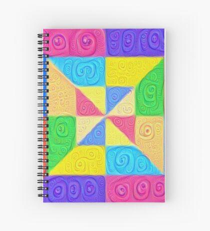 DeepDream Color Squares Visual Areas 5x5K v1448115896 Spiral Notebook