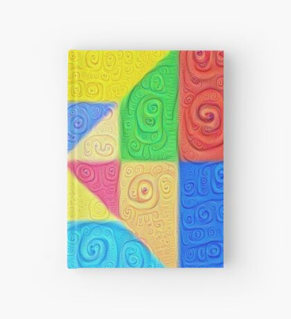 DeepDream Color Squares Visual Areas 5x5K v1448115896 Hardcover Journal