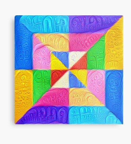 DeepDream Color Squares Visual Areas 5x5K v1448123183 Metal Print