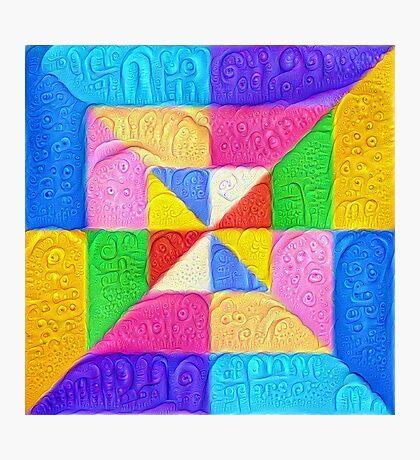 DeepDream Color Squares Visual Areas 5x5K v1448123183 Photographic Print