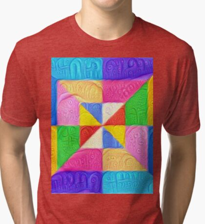 DeepDream Color Squares Visual Areas 5x5K v1448123183 Tri-blend T-Shirt