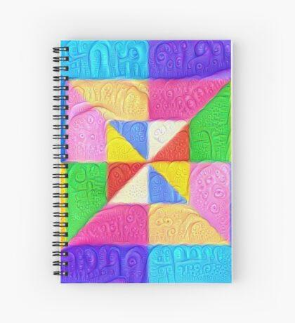 DeepDream Color Squares Visual Areas 5x5K v1448123183 Spiral Notebook
