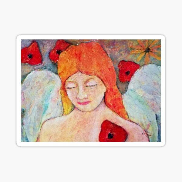 Aurora, Angel image part of an Angel oracle card deck - Renate van Nijen Sticker