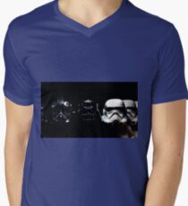 By Air, By Land Or A Hidden Force Mens V-Neck T-Shirt