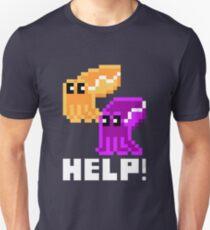 Help! Save the Cuttlefish Cute Pixel Art Shirt (Dark) Unisex T-Shirt