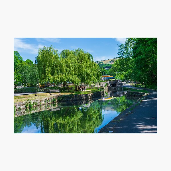 Canal in Halifax, West Yorkshire Photographic Print