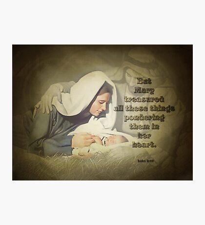 Luke 2:19-biblical Photographic Print