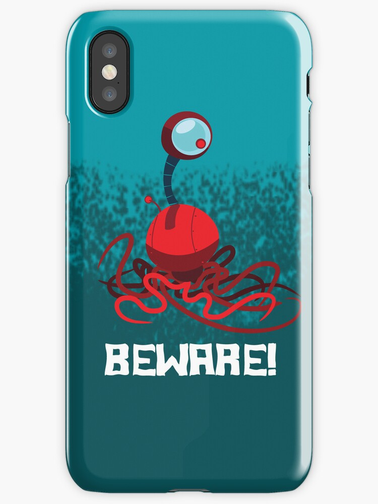 BEWARE! EYEBALL MONSTER! iPhone Case by jeffpina78