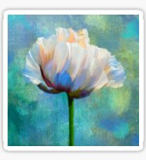 Plein Air Au Printemps poppy flower floral art Sticker