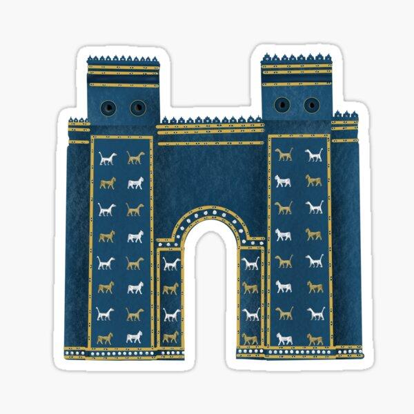 Ishtar Gate Babylon in Iraq Sticker
