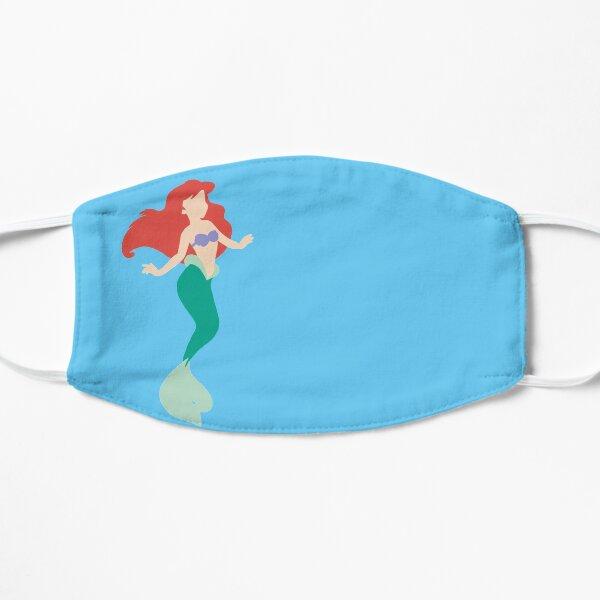 red hair mermaid Flat Mask