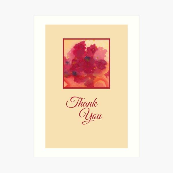 Floral Thank You Art Print