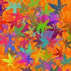 Bright Orange Autumn Foliage by AntiqueImages