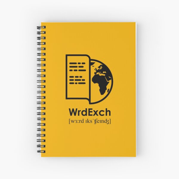 """Word Exchange Logo"" by Loris Raimbault Spiral Notebook"
