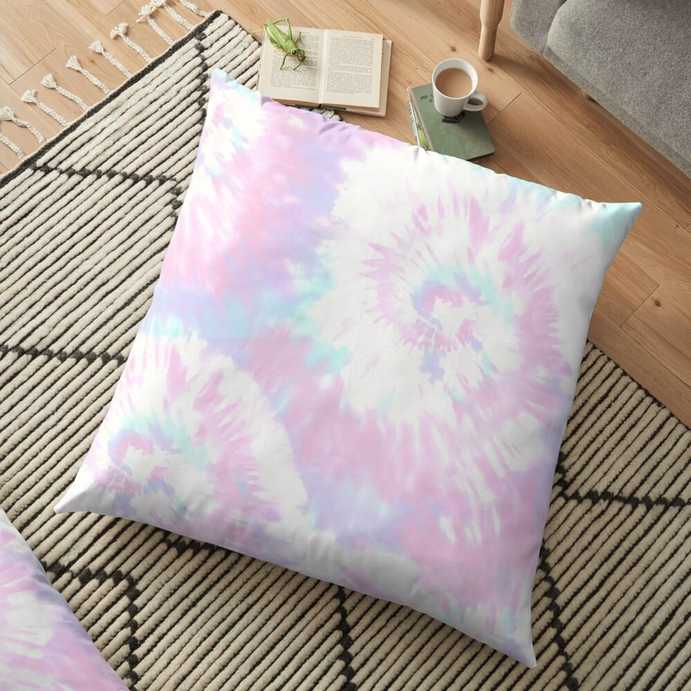 Pastel Sprial Tie dye  Floor Pillow