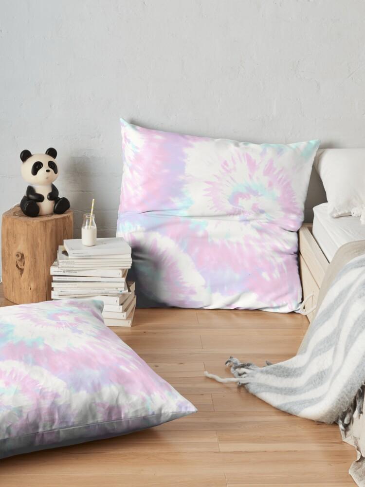 Alternate view of Pastel Sprial Tie dye  Floor Pillow