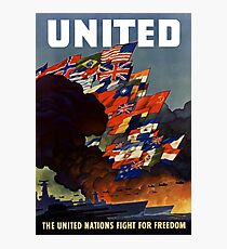 The United Nations Fight For Freedom Photographic Print