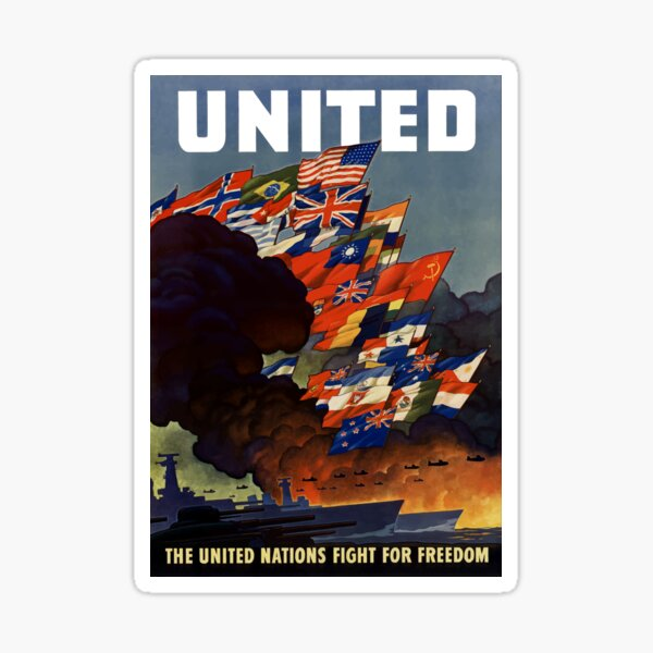 The United Nations Fight For Freedom Sticker