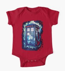 Dr Who Tardis - British Police Box Lost In Space One Piece - Short Sleeve