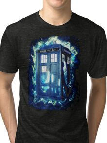 Dr Who Tardis - British Police Box Lost In Space Tri-blend T-Shirt