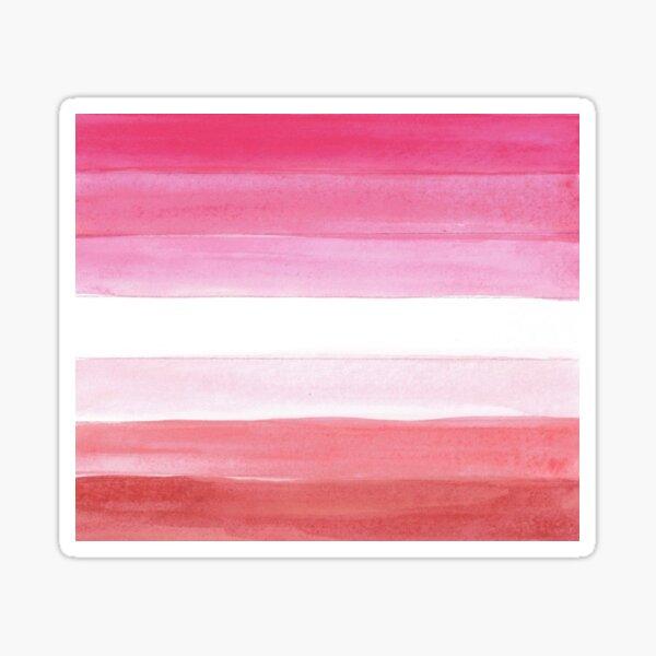 lesbian flag - lesbian pride flag watercolor Sticker