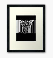 WHITE TIGER BARCODE  Framed Print