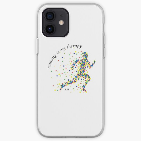 Running is my Therapy iPhone Soft Case