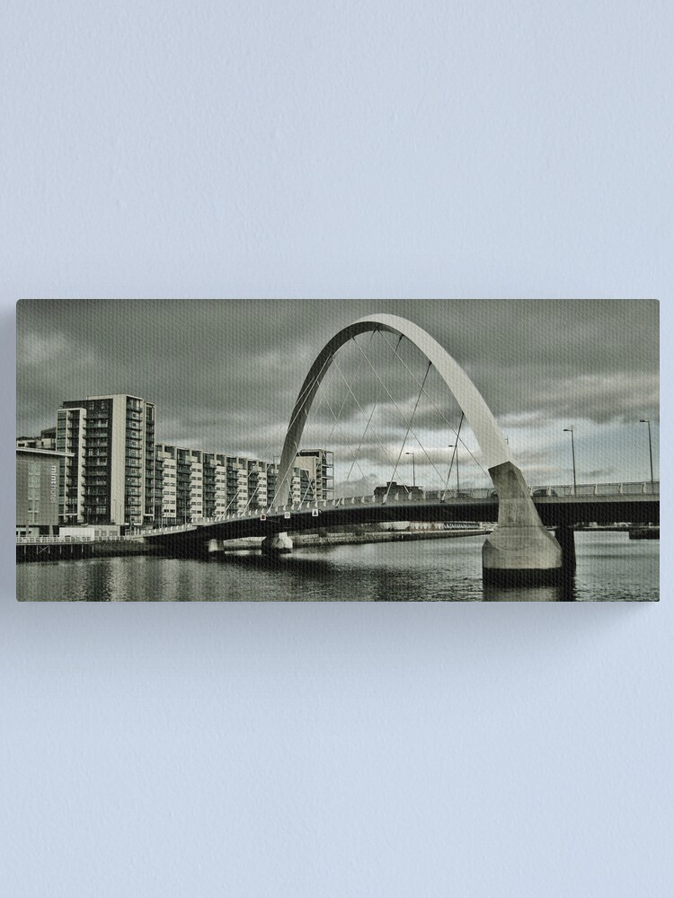 Alternate view of Squinty Bridge Over The Clyde Canvas Print