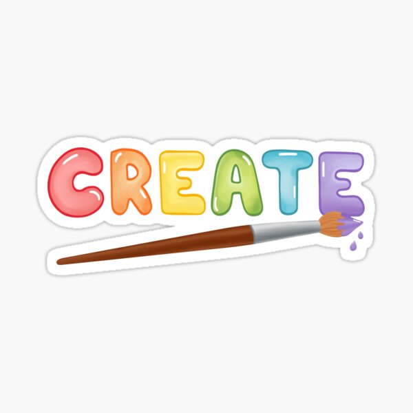 """Create"" Large Text Sticker"
