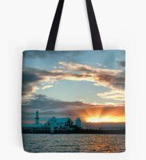Waterfront Sunrise Tote Bag