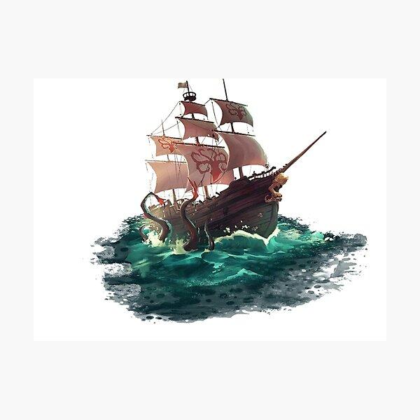 Sea Of Thieves Galleon Kraken Design Photographic Print