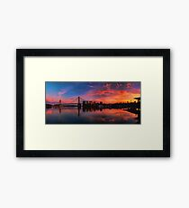 Sunrise at Blackwattle Bay - Panorama Framed Print