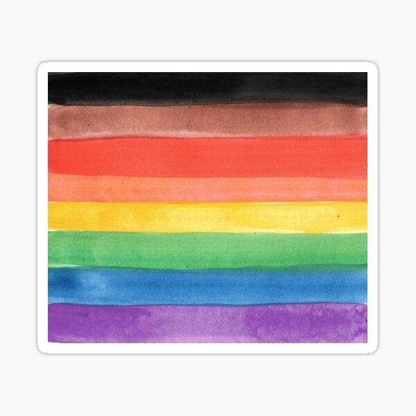 pride flag - inclusive pride flag watercolor Sticker