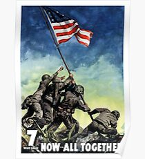 Raising The Flag On Iwo Jima Poster