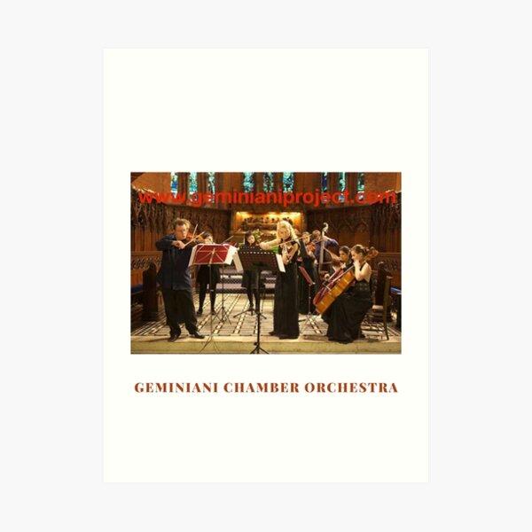 Geminiani Chamber Orchestra Art Print