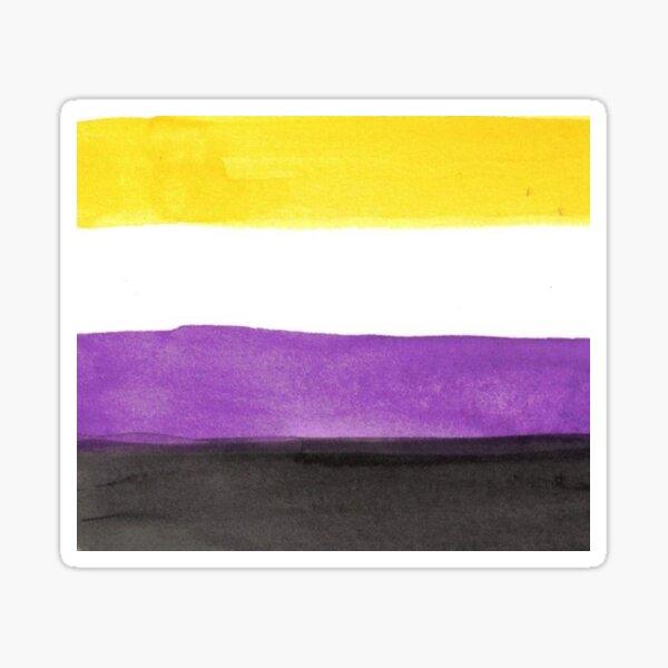 non-binary pride flag - nonbinary flag watercolor Sticker