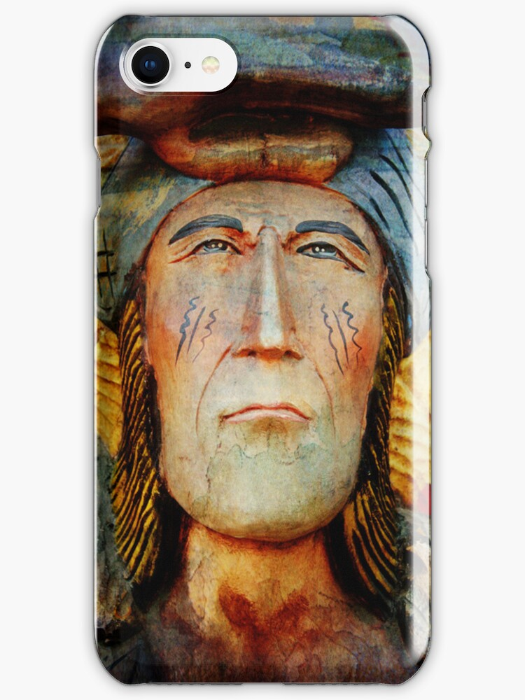 iPHONE Case-Native American by Pamela Phelps