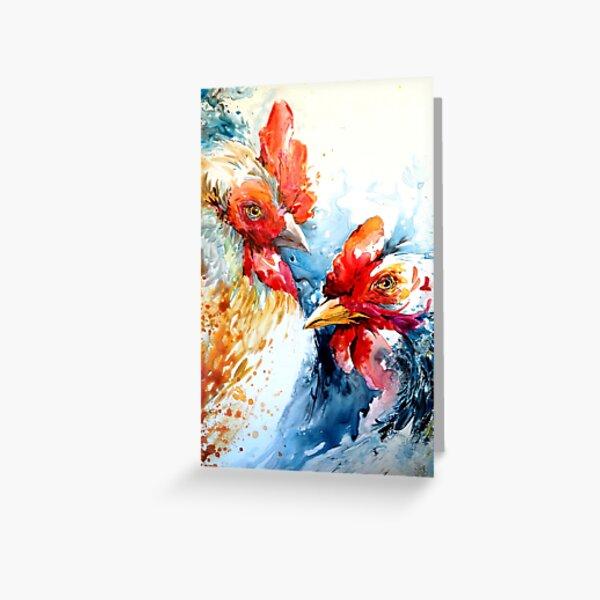 Deux poules Greeting Card