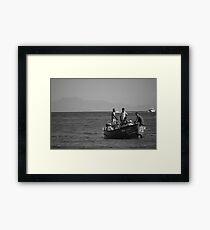 Returning Boat Framed Print