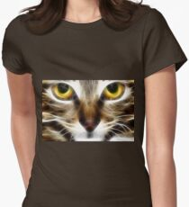 Kitty close up tee Womens Fitted T-Shirt