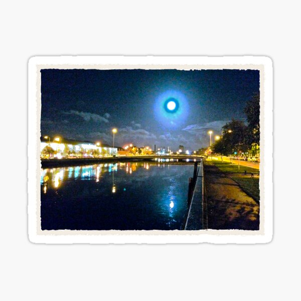 Moonlit night on Merchant´s Quay 003 Sticker