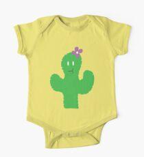 Cutesy Flower Cactus One Piece - Short Sleeve