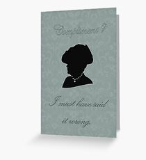 Violet Crawley Greeting Card