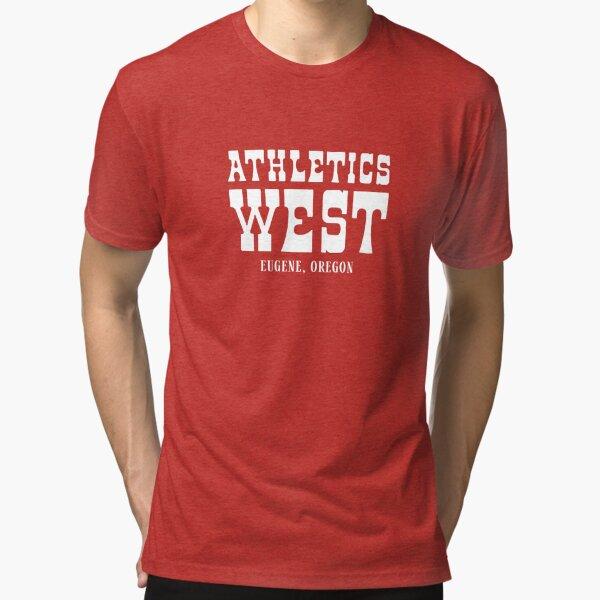 Athletics West fue el club de corredores de los años 70. Corredores famosos como Alberto Salazar Camiseta de tejido mixto