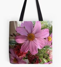 Cosmos and Sweet William Tote Bag