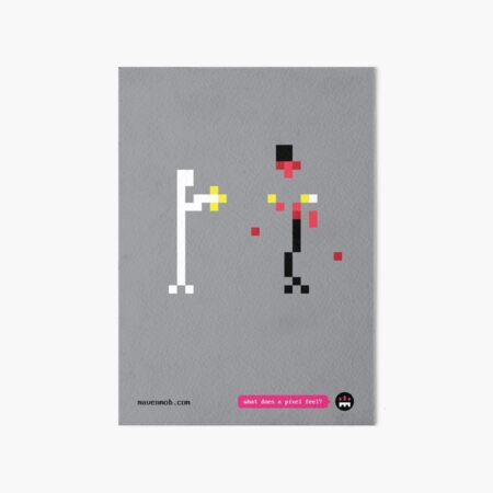what does a pixel feel? Art Board Print