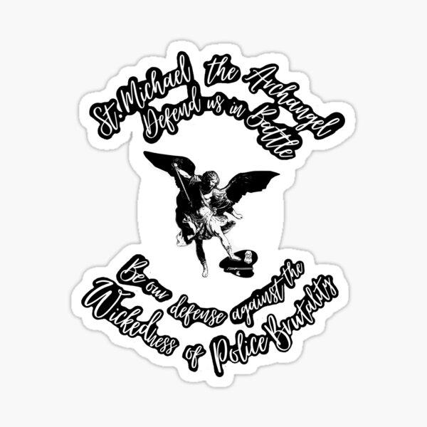 St. Michael Defend Us Sticker